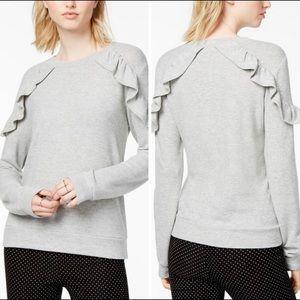 Macy's Maison Jules ruffle sleeve top